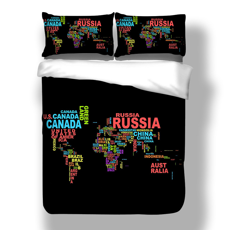 World map bedding sets duvet cover solid fitted sheet pillowcases 3d welt karte schwarz gedruckt bettwsche baumwolle bettwsche set einzigen doppel erwachsenes uns knigin bett duvet gumiabroncs Gallery