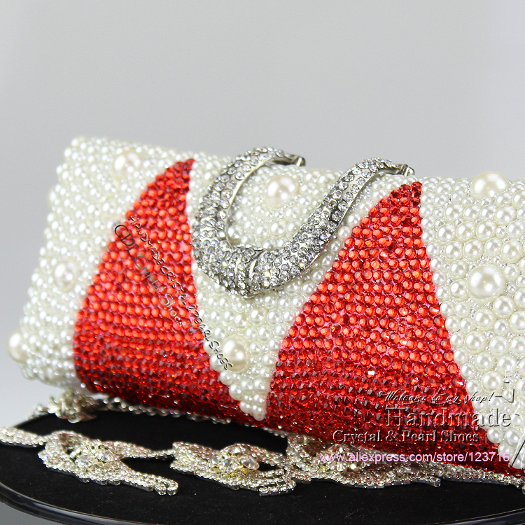 Fashion Red Wedding Clutch Purse Evening For Women Crystal Handbag In Bags From Luggage On Aliexpress Alibaba