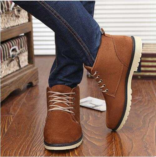 14467a59ab990 Hot Sale fashion men boots brown male shoes casual cowboy mens ankle boots  suede leather warm
