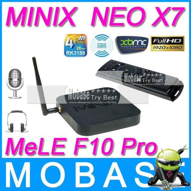 [MeLE F10 Pro Air Mouse]MINIX NEO X7 Android TV Box Quad Core Mini PC 1.6GHz 2G/16G WiFi HDMI USB RJ45 OTG Optical XBMC Receiver