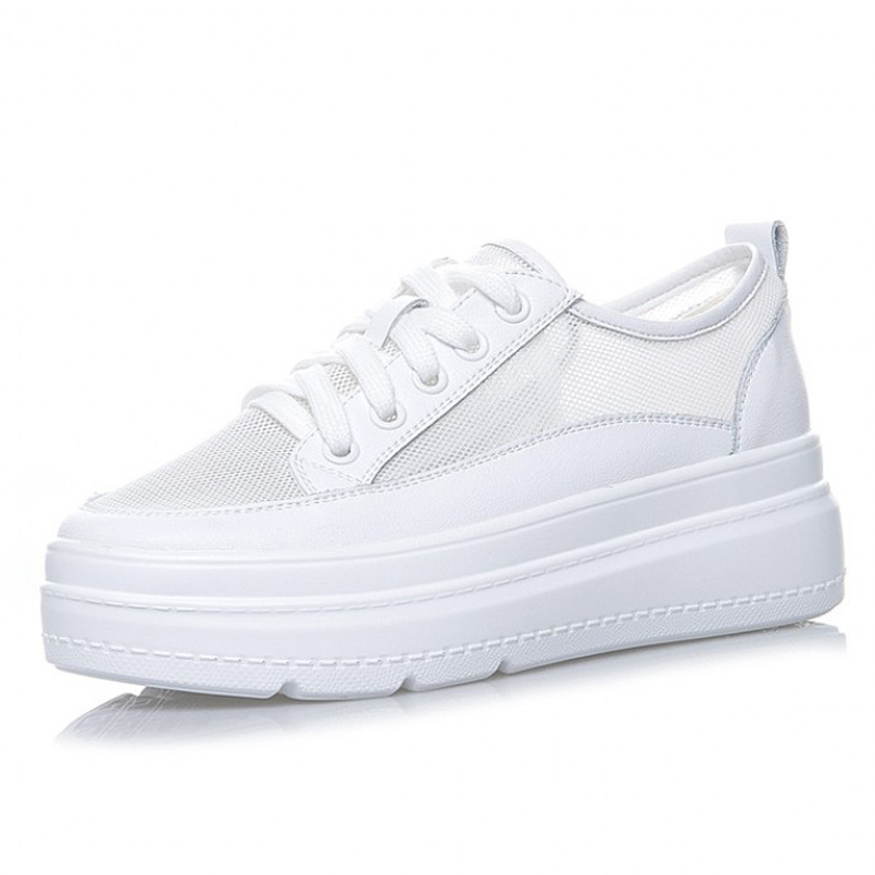 Woman shoes summer women sport shoes ladies casual sneakers breathable lace mesh white leather wedges trend tennis shoes Woman shoes summer women sport shoes ladies casual sneakers breathable lace mesh white leather wedges trend tennis shoes
