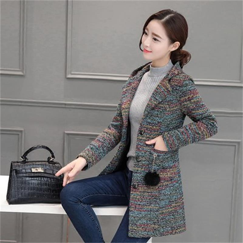 Kaister Coats for Women Autumn Winter Long Woolen Parka Jacket Elegant Cardigan