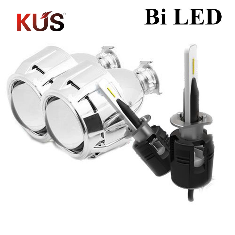 2 5inch bi LED Projector lens with shrouds H1 H4 H7 motorcycle car hid bulb lamp