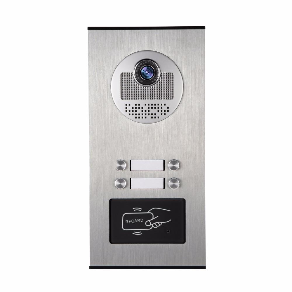 YobangSecurity Metal Aluminum Outdoor RFID Access Control Doorbell Camera For 4 Units Apartment font b Video