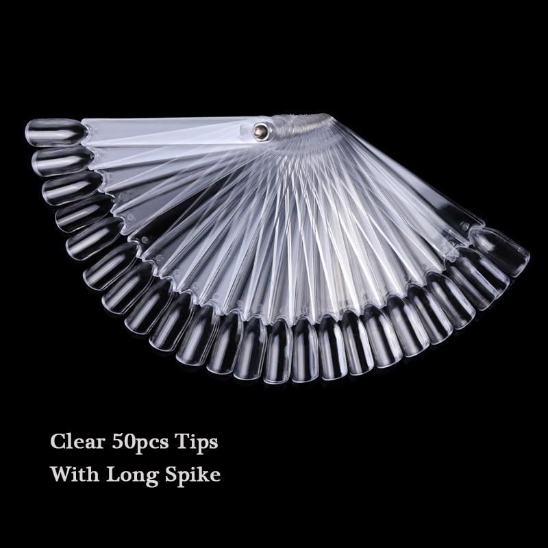 1 Набор накладных насадок для ногтей, натуральный прозрачный черный веер, на палец, полная карта, для дизайна ногтей, для практики, акриловый УФ-Гель-лак, инструмент для маникюра JI386 - Цвет: 11