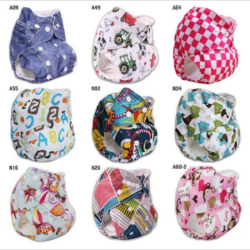 Polyester Washable Cloth Nappy Baby Diaper Washable Baby Pocket Nappy Cloth Reusable Diaper Ajustable Nappies Diapers NB023