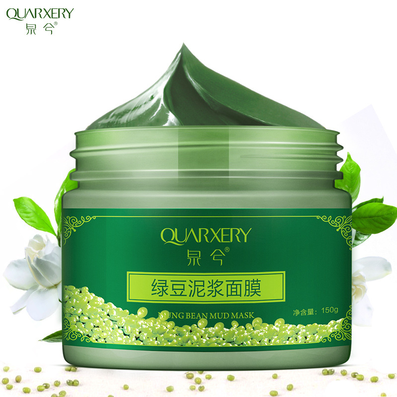 Mung Bean Mud Mask Face Peeling Melanin Acne Mineral Clay Mask Black Head Pore Skin Care Lift Beauty Mask Skin Food  Facial Mask
