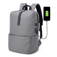 Anti Theft Laptop Nylon Backpack USB Charging School Bag Men 15.6 Waterproof Backpacks for Teenage Male Mochila Travel Backpack gray men s backpack with usb interface black laptop backpack zipper classic male blue travel school bag anti theft backpacks