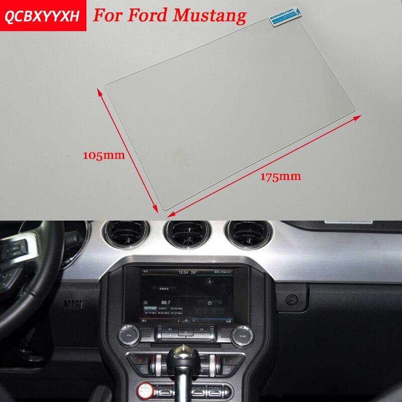 Autocollant de voiture 8 Pouce GPS Navigation Écran En Acier De Protection Film Pour Ford Mustang Contrôle de LCD Écran Voiture Style