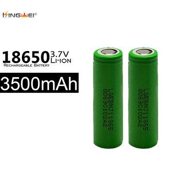 10pcs 3500mah Batteries 3.7v icr 18650 li-ion for LG battery rechargeable battery for Toy mp3 mp4  powerbank e-cigarette