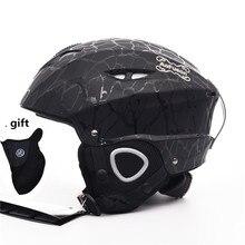 Фирменный лыжный шлем интегрально-Формованный Профессиональный взрослый Сноуборд шлем для мужчин и женщин Катание на коньках/скейтборд зимние спортивные шлемы