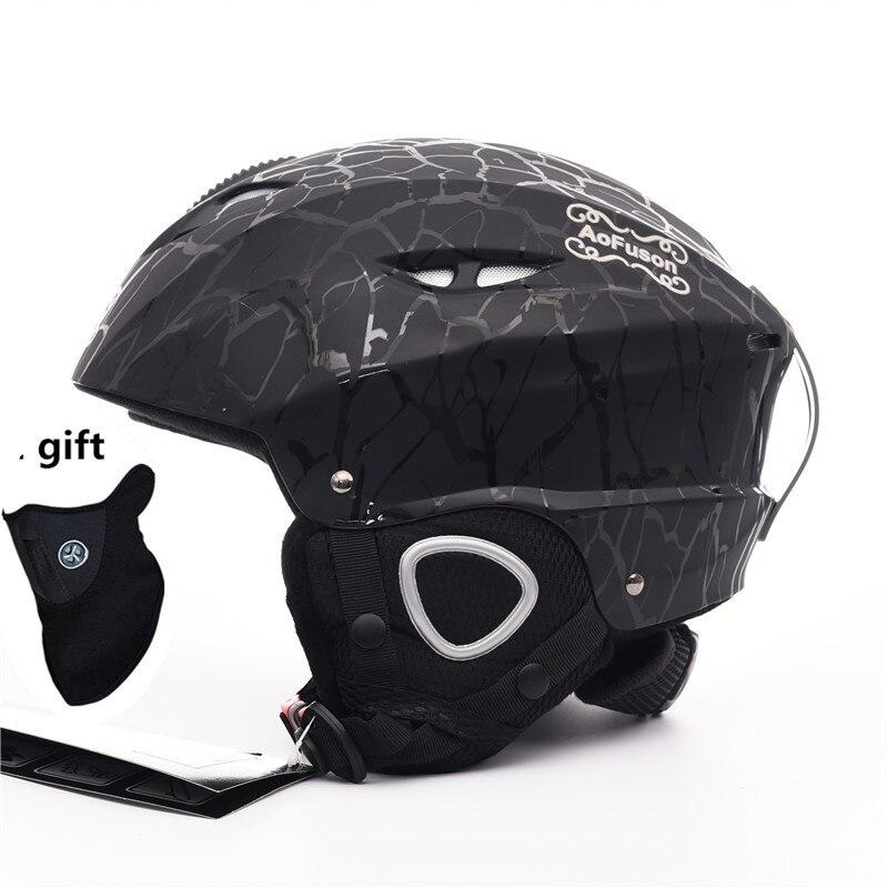 2019 Marca capacete De Esqui Snowboard capacete Integralmente-moldado adulto profissional Das Mulheres Dos Homens de Skate/Skate capacetes de esportes de Inverno