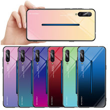 New Luxury Gradient Tempered Glass Case For Vivo X27 X23 X21 UD Nex A IQ00 Z1 Z3 V11i V15 Pro S1 V9 Youth Y85 Case For Vivo V15(China)