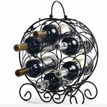 7hole european style Red Wine Rack Wine Bottle Holder Iron Metal Wine Holder Rack Barware Drinking Storage Display Gift