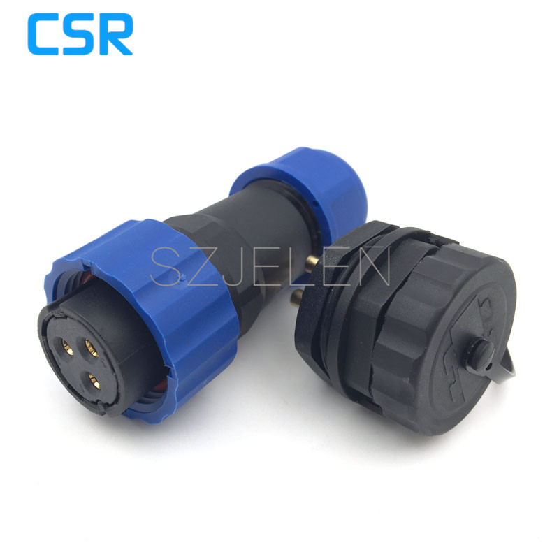 SD20TP-ZM, waterproof 3pin Plug (female) and socket (male) ,IP68, 25A , Nylon Assembly Screw Fixing waterproof connector 3 pin waterproof industrial plug socket 32a 5pin 400v electric female plug p 025 waterproof socket p 125 total 4pcs free shipping