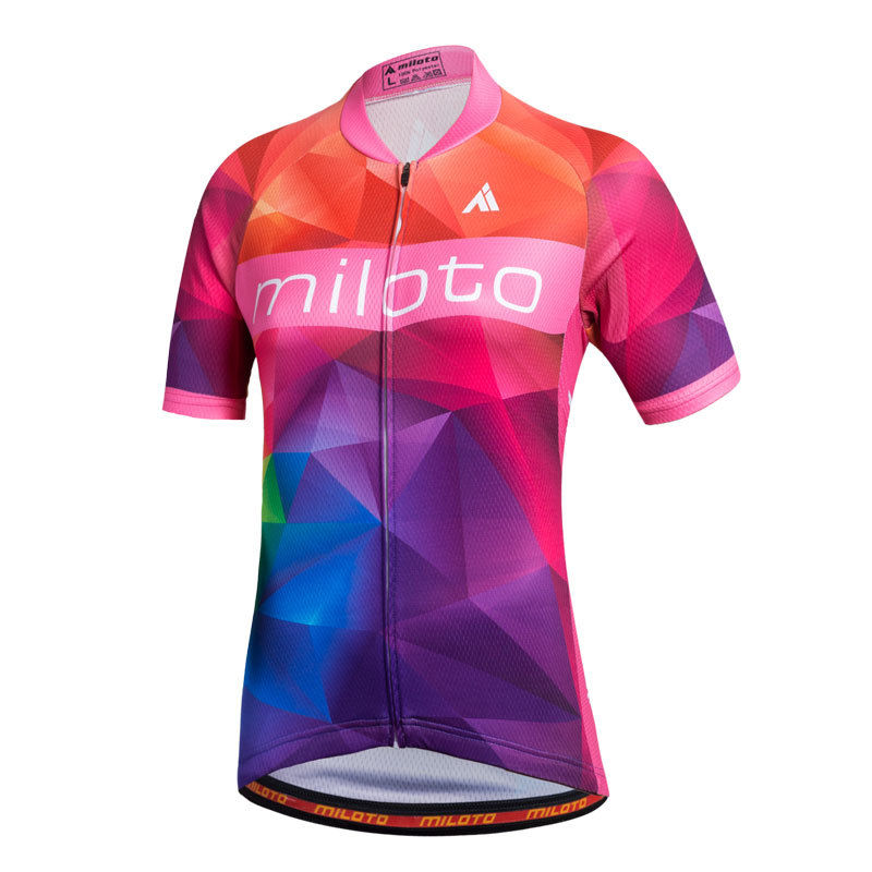Miloto Ladies Cycling Jersey Top Summer Women/'s Bike Cycle Jersey Shirt S-5XL