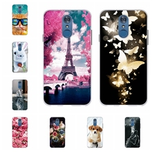 For LG Q7 Protective Case Ultra-slim Soft TPU Silicone For LG Q7 Plus Back Cover Flowers Patterned For LG Q7 Alpha Bumper Shell цена
