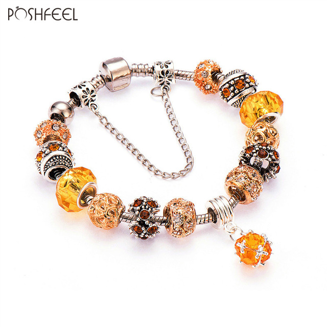 Bransoletka Poshfeel Orange Charm