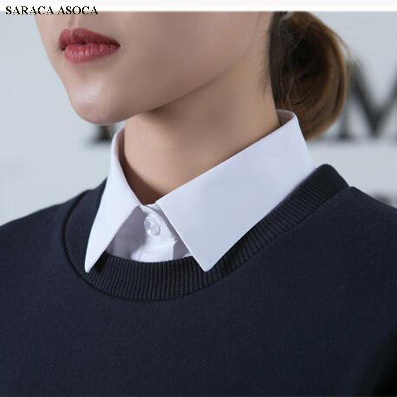 Apparel Accessories 2019 Fashion Wholesale Retail All Match Black White Plaid Detachable Collar Men Profession Mens Shirts Fake Collar A432