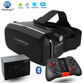 VR Shinecon 3D VR Glasses Universal Virtual Reality Free Controller Video Glasses For iPhone Smartphone + Mocute Gamepad 050