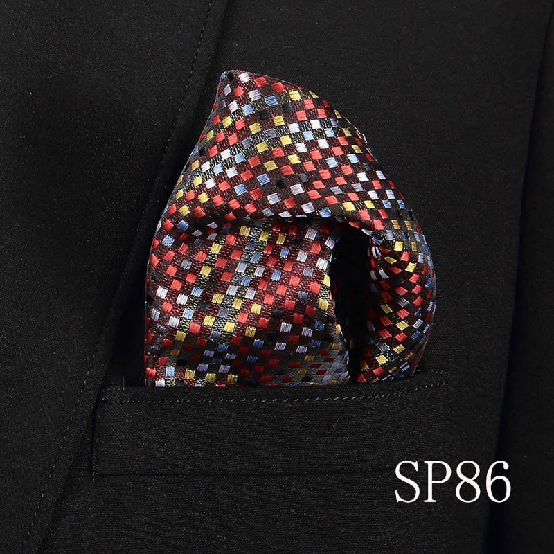 Paisley Floral Men Silk Satin Pocket Square Hanky Jacquard Woven Classic Wedding Party Handkerchief Vintage Dot Hankies in Men 39 s Ties amp Handkerchiefs from Apparel Accessories