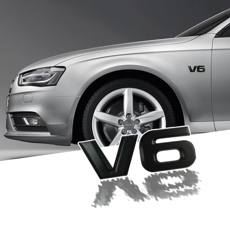 Car sticker V6 V8 metal 3D decorative for car badge