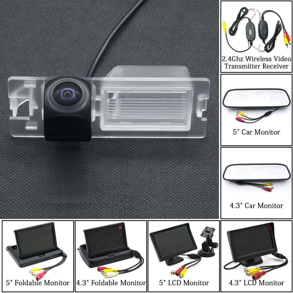 Fisheye 1080 P MCCD Starlight caméra de recul de voiture pour Fiat Bravo Brava Grande Punto sienne Ritmo 5 pouces moniteur LCD sans fil