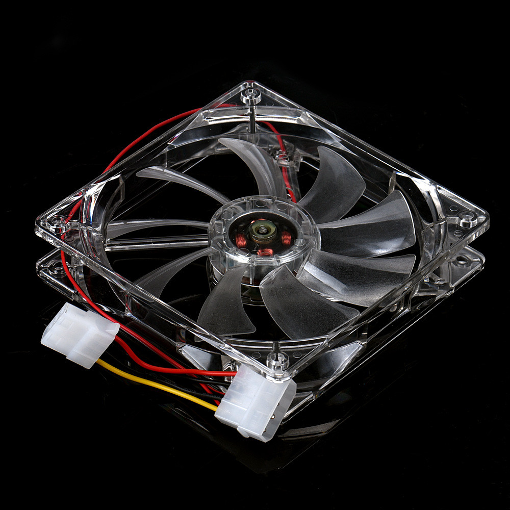 NEW 12CM CPU Cooling Fan Computer PC Clear Case Quad Heatsink Useful 17Otc24 2200rpm cpu quiet fan cooler cooling heatsink for intel lga775 1155 amd am2 3 l059 new hot