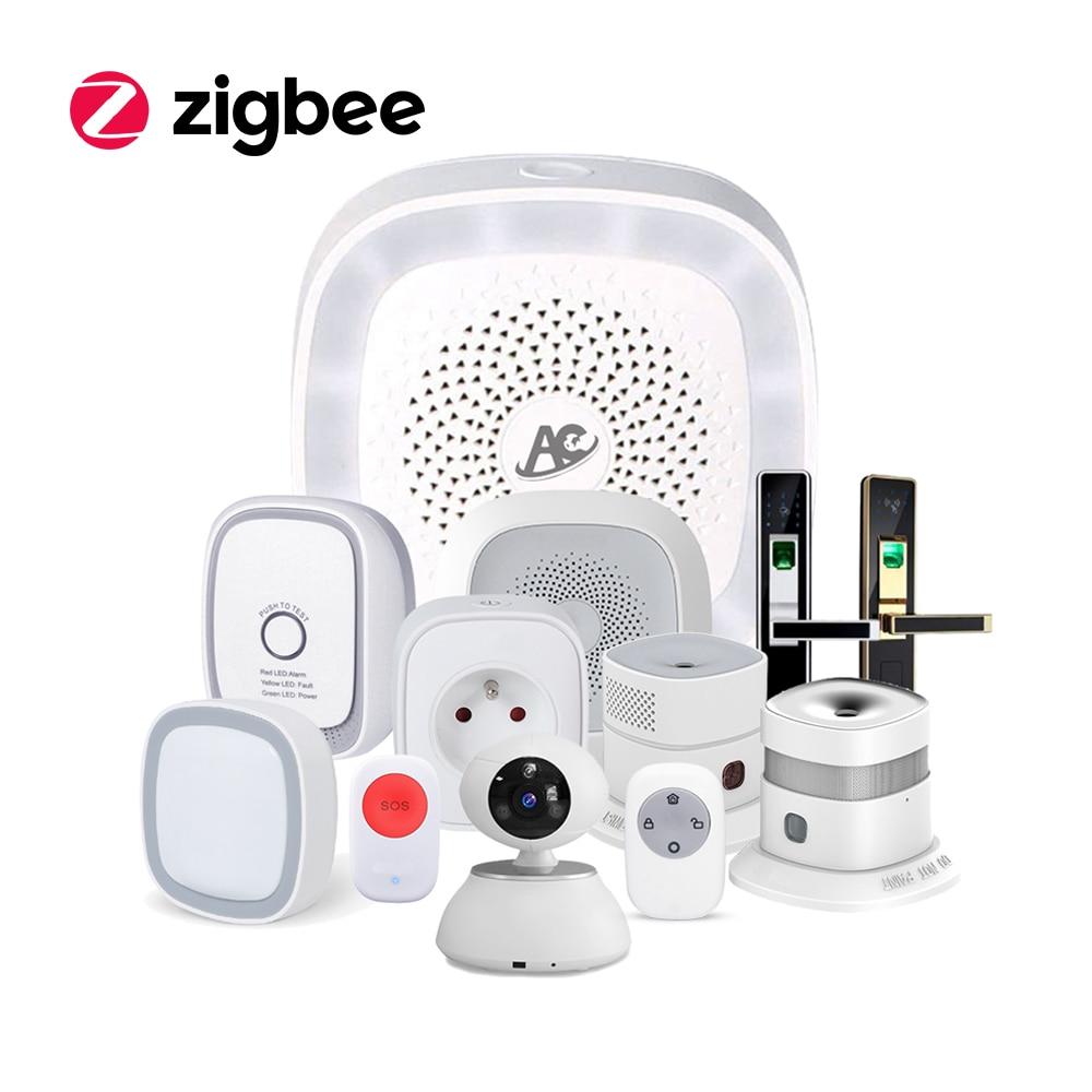zigbee wireless remote control alarm smart home automation kit with alexa [ 1000 x 1000 Pixel ]