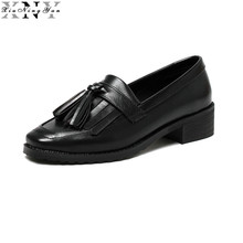 Fashion Women Flats Shoes Tassel Slip on Oxfords Shoes for Women Casual Ladies Flats Shoes Oxford Woman Brogue Loafers 2017 2017 fashion women loafers canvas shoes slipony oxford flats heels cartoon slip on comfortable mix colors white black shoes 9 11