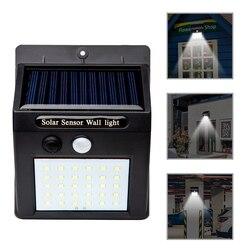 20/30/48 led luz solar de energia solar pir sensor de movimento luz de parede ao ar livre à prova dwaterproof água de poupança de energia rua jardim lâmpada de segurança