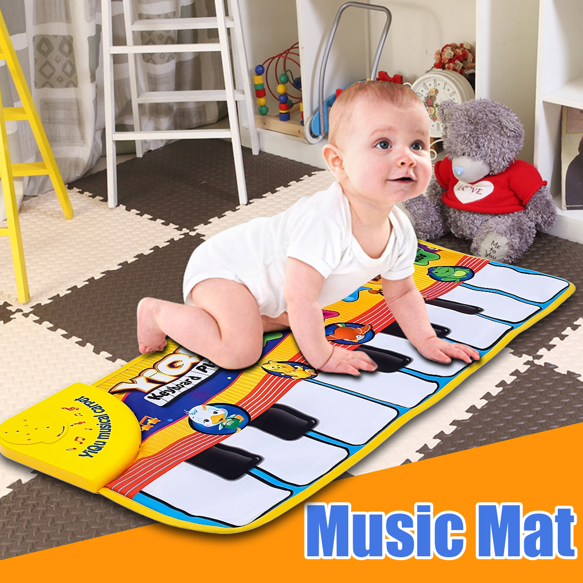 цена на Children Piano Keyboard Music Learn Singing Gym Carpet Touch Play Mats Blanket Kids Educational Toy Gift For Kids Baby Toy