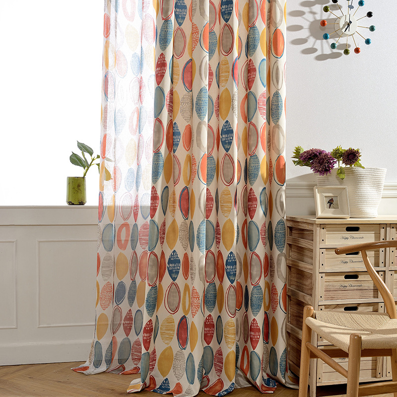 New Fabric Polyester Cotton Printing Jacquard Blackout Curtains For Living Room Modern Bedroom Window Curtains Kitchen 090&30