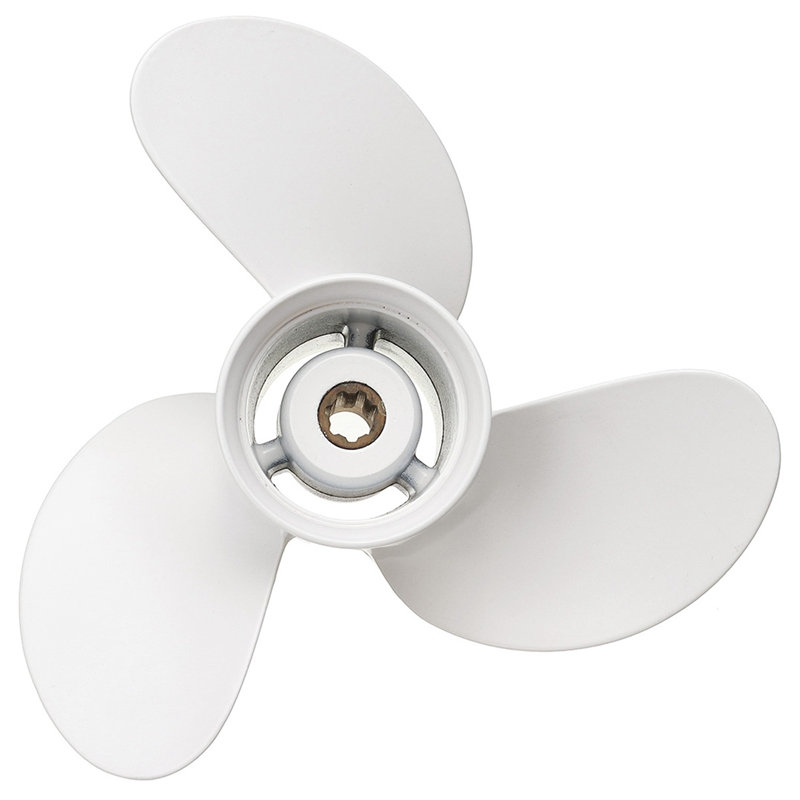 Boat Propeller 6G1-45943-00-El 8 1/2 X 7 1/2 For Yamaha Outboard Engine 6-8Hp Aluminum Alloy 3 Blades R Rotation 7 Spline Toot