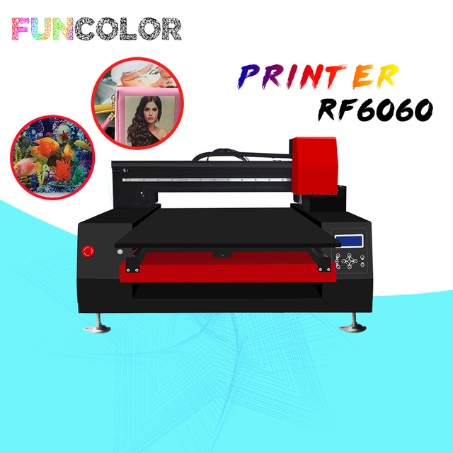 60*60cm UV Flatbed Printer Impresora 3D Automatic Printing Machine with Epson Printer Head for for Phone Case/T-shirts/TPU/PVC