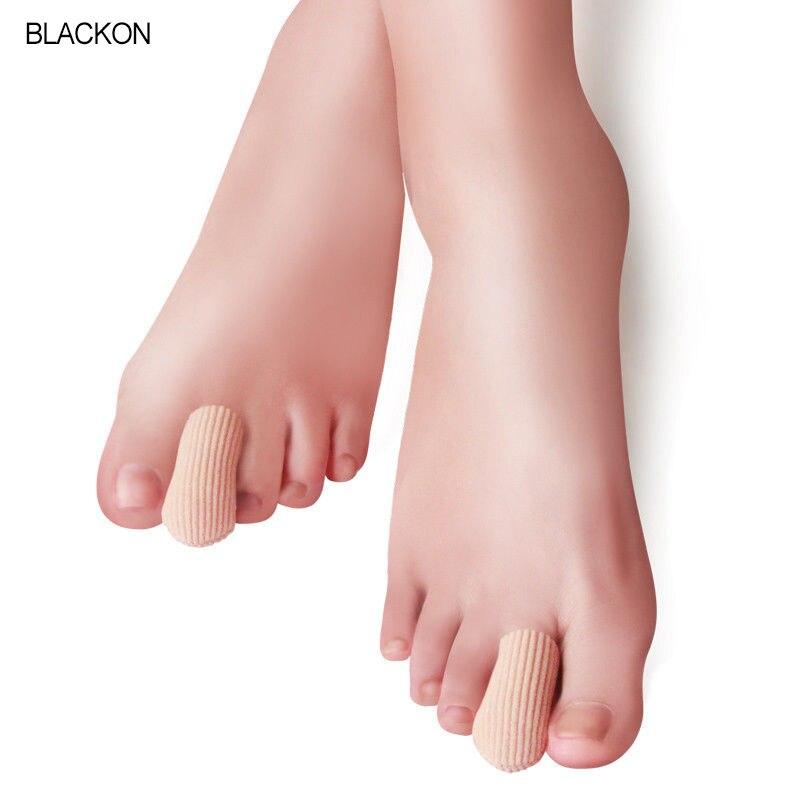 1 pièces nervuré tissu Gel Tube manches capuchon couverture pour marteau orteil griffe Blister cors 1.8/3*7cm doigts séparé protecteur soins des pieds