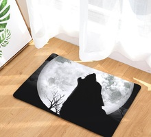 CAMMITEVER Wolf Dog Cow Monkey Hedgehog Rug Mat Carpet Pad Anti-Slip Chair Sofa Cover For Bedroom Home Decor Rugs for