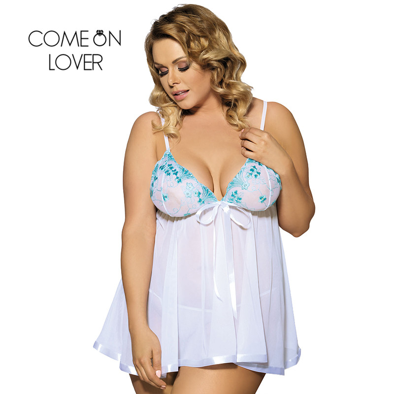 Comeonlover Lenceria Sexi Para Mujer Plus Size 8XL <font><b>Sexy</b></font> Lingerie Women <font><b>Babydoll</b></font> <font><b>Lencer</b></font>í<font><b>a</b></font> <font><b>Sexy</b></font> Underwear Women Erotic EI2073 image