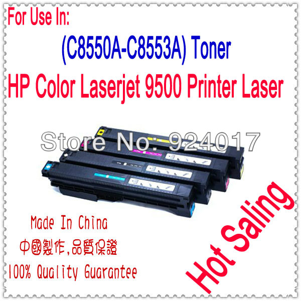 Toner Cartridge For HP Color LaserJet 9500 9500GP 9500MFP 9500N 9500HDN Printer,For HP C8550A C8551A C8552A C8553A Toner Refill for hp 283 cf283a toner powder and chip for hp laserjet pro mfp m125 m127fn m127fw laser printer free shipping hot sale