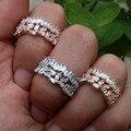 Marca nuevo anillo de compromiso mujeres cubic zircon del brillo elegante Hecha A Mano el anillo para mujer y Hombre