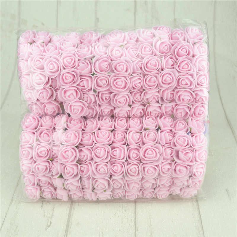 144 ชิ้น/ล็อตMini Multicolor Peกุหลาบโฟมประดิษฐ์ดอกกุหลาบช่องานแต่งงานตกแต่งDIYพวงหรีดดอกไม้ปลอม