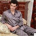 Pijamas Para Hombres Duermen Camisones, Pijamas Para Hombre de Los Hombres de Seda salón Pijama Juegos de Los Hombres Más El Tamaño XXXL Ropa de Dormir de Los Hombres