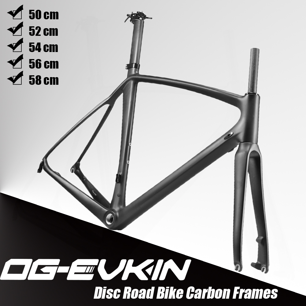 Light Weight Full Carbon Fiber Cycling Ciclismo Frame Road Bike Bicycle Frameset Fork Seatpost Size 56CM UD Matt BB68 Disc Brake west biking bike chain wheel 39 53t bicycle crank 170 175mm fit speed 9 mtb road bike cycling bicycle crank