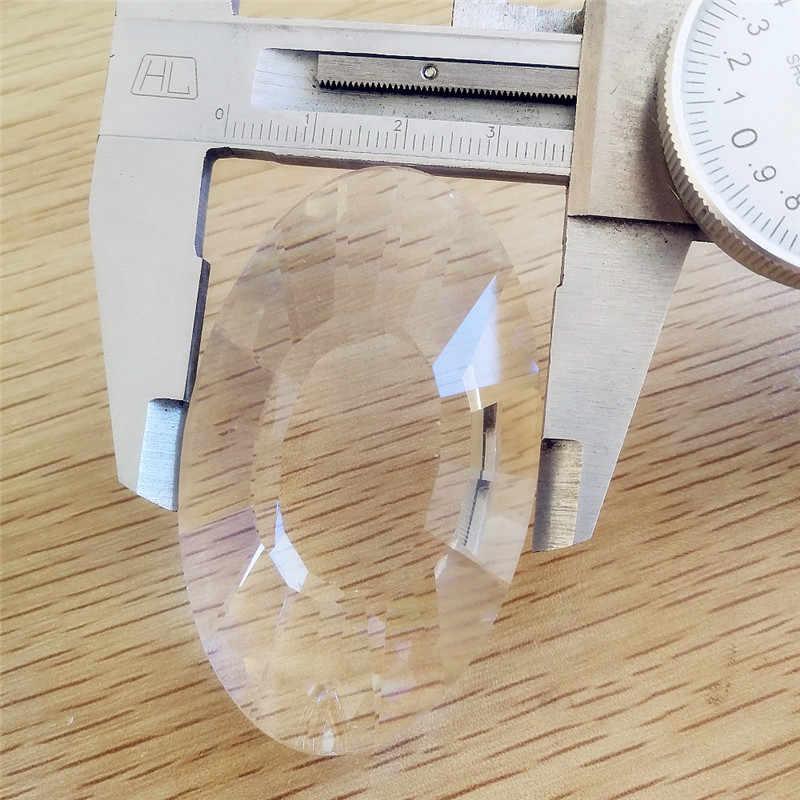 10 יח'\חבילה 63mm קריסטל עגיל טיפת פריזמה מכונת Cut קריסטל נברשת מנורת זמירה חלקי לסלון דקור משלוח חינם