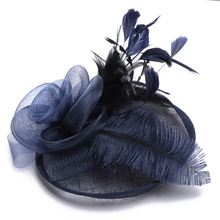 Женские королевские вуалетки для свадебных гонок Sinamay Коктейльные вуалетки женские льняные перьевые шляпы вечерние шляпы Fedora Новинка