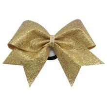 6 дюймов блестящие маленькие банты для волос со стразами милые бантики для девочек