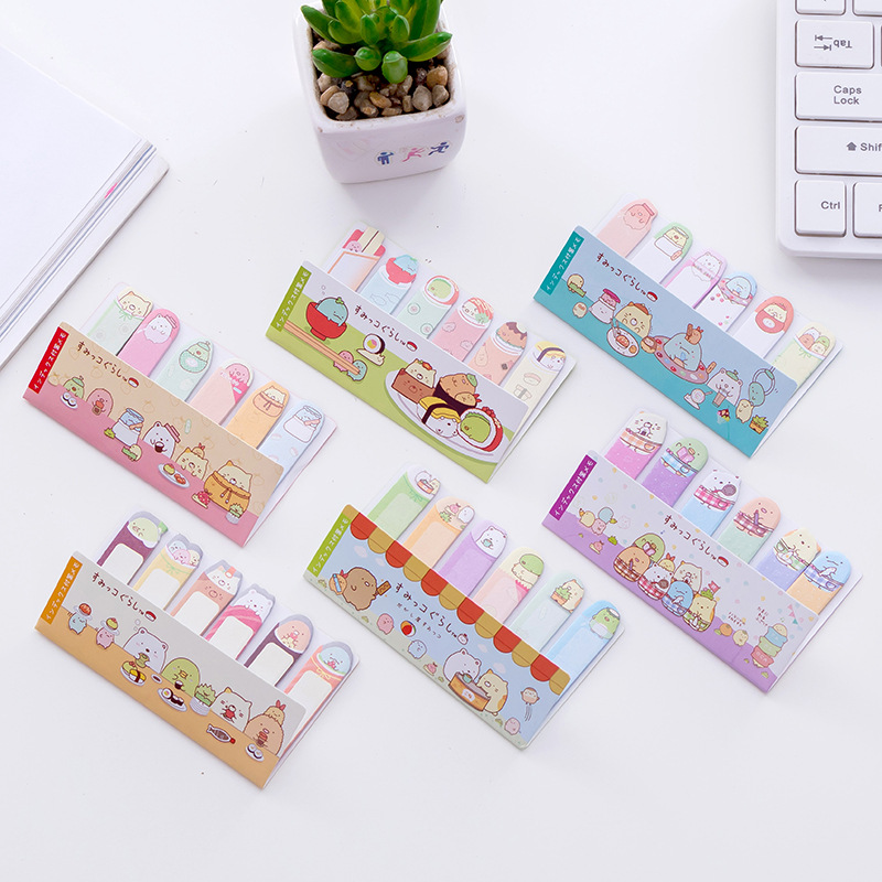 Cute Cartoon Animal Finger Sumikko Gurashi Memo Pad N Times Sticky Note Paper Korean Stationery School Office Planner Sticker