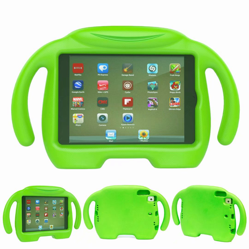 For IPad Mini 1/2/3 Retina Kids Safe Shockproof Rubber EVA Case Stand Cover With Handle Fundas For Ipad Mini 4 Child Shell
