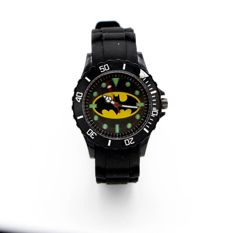 Batman Silicone Watch Quartz Kids Sports Fashion Cartoon Watch Wristwatch Boy Students Christmas Relogio Dress Clock Watch