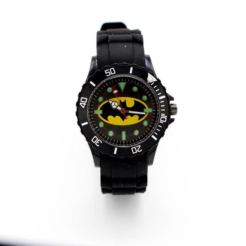 Batman Silicone Watch Quartz Kids Sports Fashion Cartoon Watch Wristwatch Boy Students Christmas Relogio Dress Clock Watch